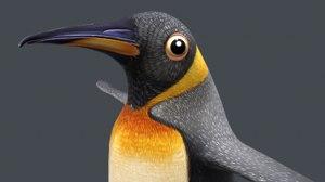 3D penguin bird nature