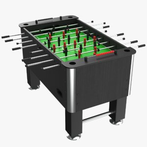 3D real foosball table model