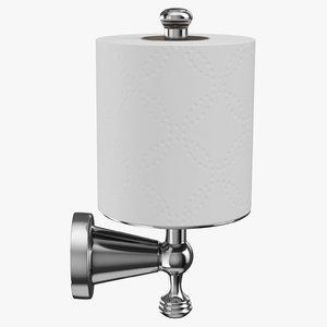 3D toilet paper holder