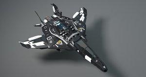 starship viper 3D model