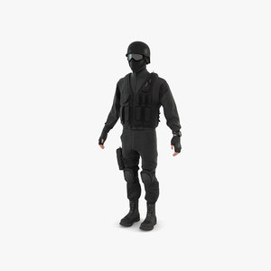 3D swat police policeman