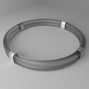 3D glass ring 4 model