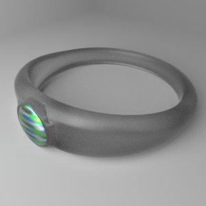 glass ring 5 3D model
