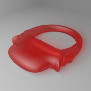 3D glass ring 6 model