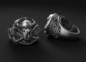 jewellery ring viking 3D model