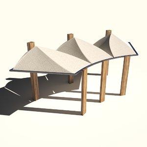 canopy fabric 3D model