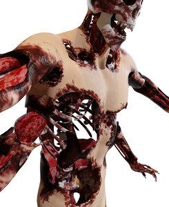 3D creature man human
