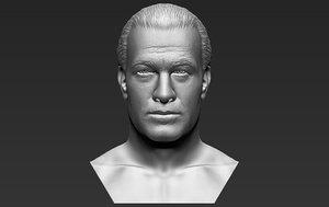 3D model steven seagal bust printing