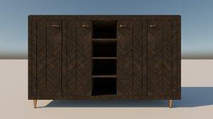 3D model dark sideboard