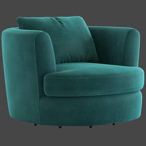 3D cult furniture magnolia swivel