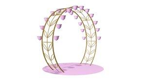 3D arch flowers