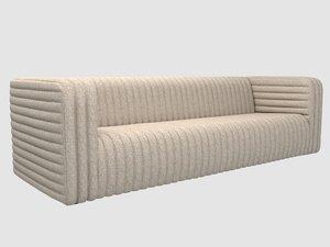 3D loma sofa kelly wearstler