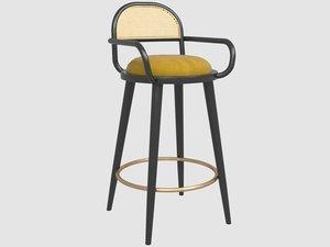 3D luc bar chair mambo model