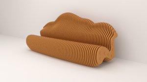 3D furniture seat sofa model