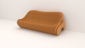 3D parametric bench