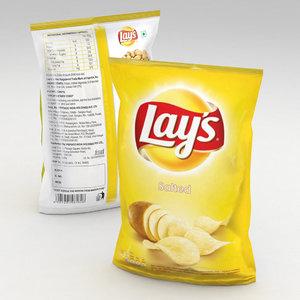 potato chips 3D model