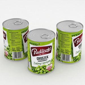 3D food peas