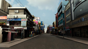 market bazaar street road 3D model