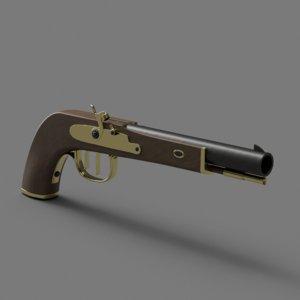 3D pistol model