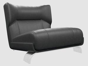3D vicenzo cotiis dc103b lounge chair model