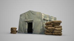 modern military tent 3D model