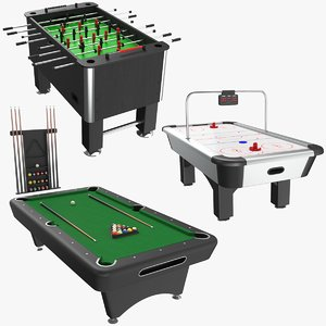 3D model real table games