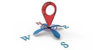 3D logo compass