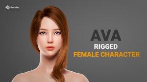 beautiful female character 3D model