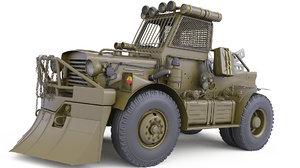 3D truck post apocalyptic model