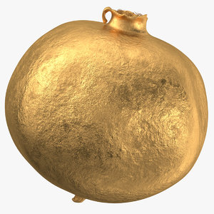 3D model pomegranate 02 gold
