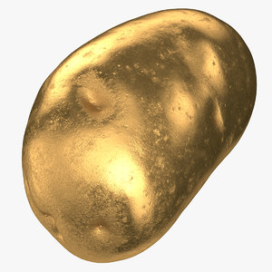 3D potato clean 01 gold