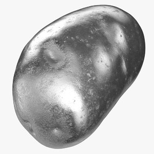 potato clean 01 silver 3D model