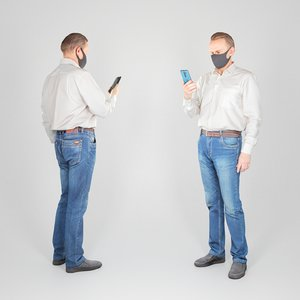 adult man character 3D