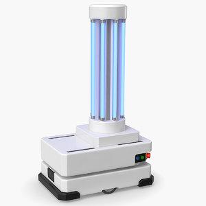 3D uv robot disinfection