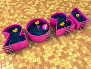 3D model swimming pool 2021