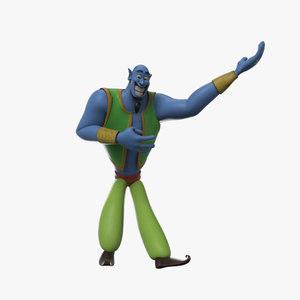 blue genie character model