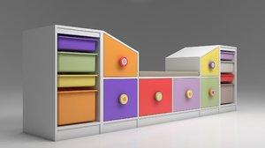 3D model rooms toys