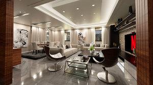 3D interior scene dining room