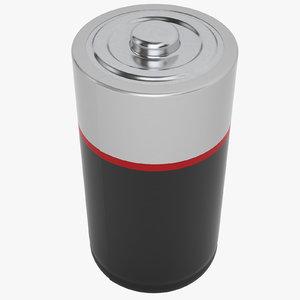 lr20 battery 3D model