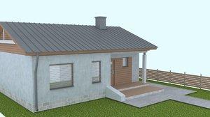 onefloor house 3D model