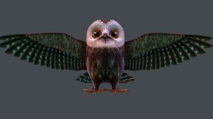owl stylized model