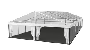 transparent marquee wedding tent 3D model