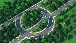 3D road highway design model
