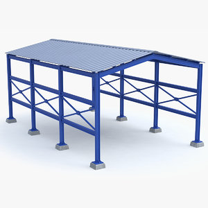 shelter structure 3D model