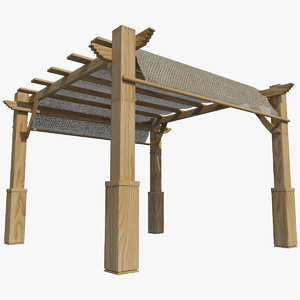 3D pergola animation games model