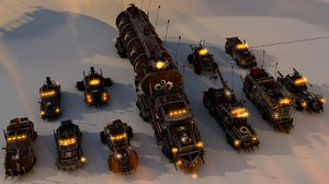 mega battle car package 3D