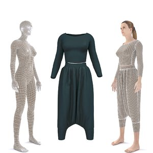 3D character clothing - moroccan
