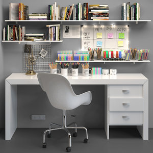 office stationery chair 3D model
