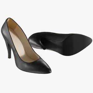 realistic women s shoes model