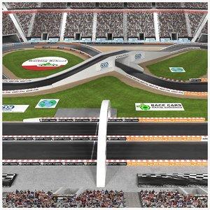 stadium race track model